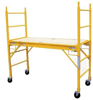 6 Ft Scaffolding Rolling Capacity Scaffold Platform Drywall Painting Cart Wheels