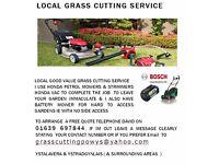 GARDEN GRASS CUTTING SERVICE YSTALAVERA & YSTRADGYNLAIS ( & SURROUNDING AREAS )