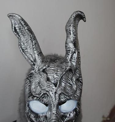 Donnie Darko Frank Cosplay (horror film Donnie Darko Frank Bunny Rabbit Mask Latex Overhead With Fur)