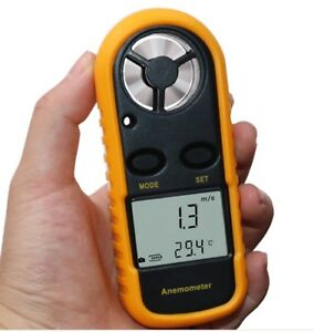 Digital Anemometer 0-30m/s Speed with LCD Backlight