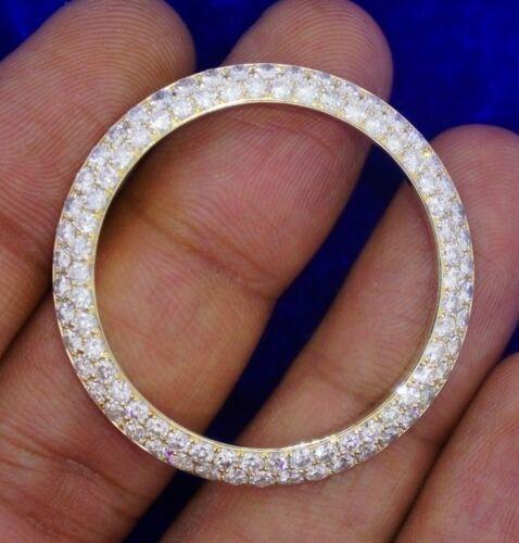 5 Carat Diamond Bezel For 36mm Rolex Gold President Watch Honey comb setting