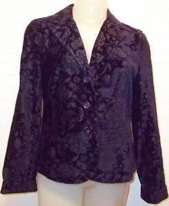Womens Sz 8 Talbots Dark Purple Blazer Jacket NEW NWT