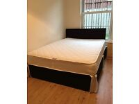 £150 Double bed 11inch mattress with headboard
