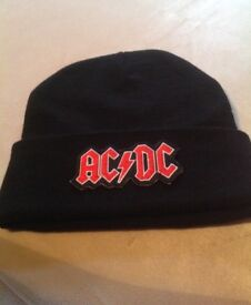 AC/DC Brand New Beanie Hat, Embroidered logo, Unisex fit