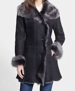 HIDE SOCIETY HIDESOCIETY Genuine Shearling Coat Size 12