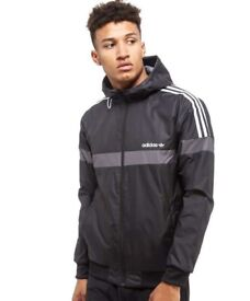 Adidas itasca windbreaker jacket with tags reversible
