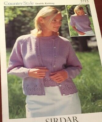 Sirdar 5715 Country Style Double Knitting Twin Set Sweater Pattern