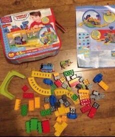 Megablok thomas building blocks/Lego with storage bag. Extra train