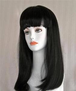 Blond-Brown-Black-Cleopatra-Long-Straight-Wig-w-Bangs