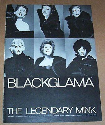 1972 ad page - Blackglama legendary mink fur coat vintage PRINT ADVERT Clipping