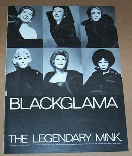 1972 ad page - Blackglama legendary mink fur coat vintage PRINT ADVERT Clipping