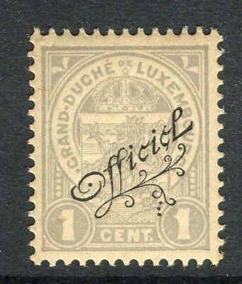 LUXEMBOURG; 1908 classic Official issue Mint hinged 1c. value