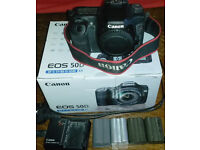 Canon 50D SLR Semi Pro Camera …Body Only, 4 Batteries & Charger