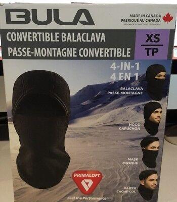 NEW Bula Ski Mask Hat Fleece Lined SMALL Mens Womens Winter HOOD MASK GAITER Bula Winter Hat