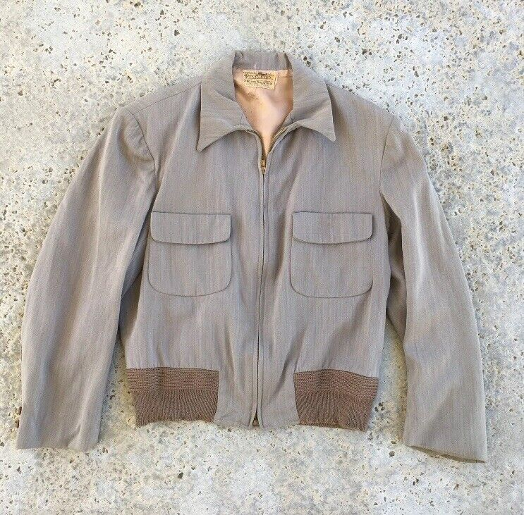 Vintage Pendleton 1940s Rockabilly Cropped Blazer Car Coat Ricky Jacket Mens