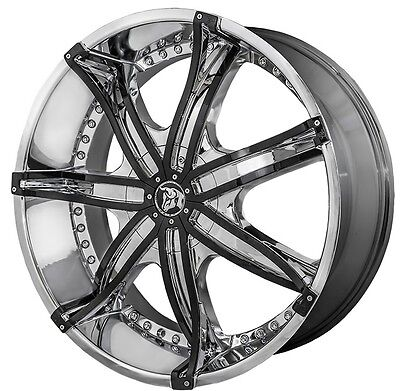 22 inch 22x9.5 DIABLO DNA Chrome wheel rim 5x4.5 5x114.3 +13