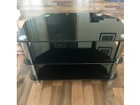 BLACK TV STAND - MINT CONDITION