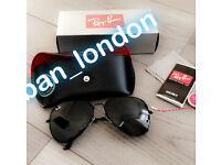 Rayban sunglasses men's women's designer fashion sun summer free loc del eid gift birthday aviator