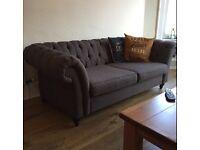 Next Chesterfield Sofa & Snuggle Chair