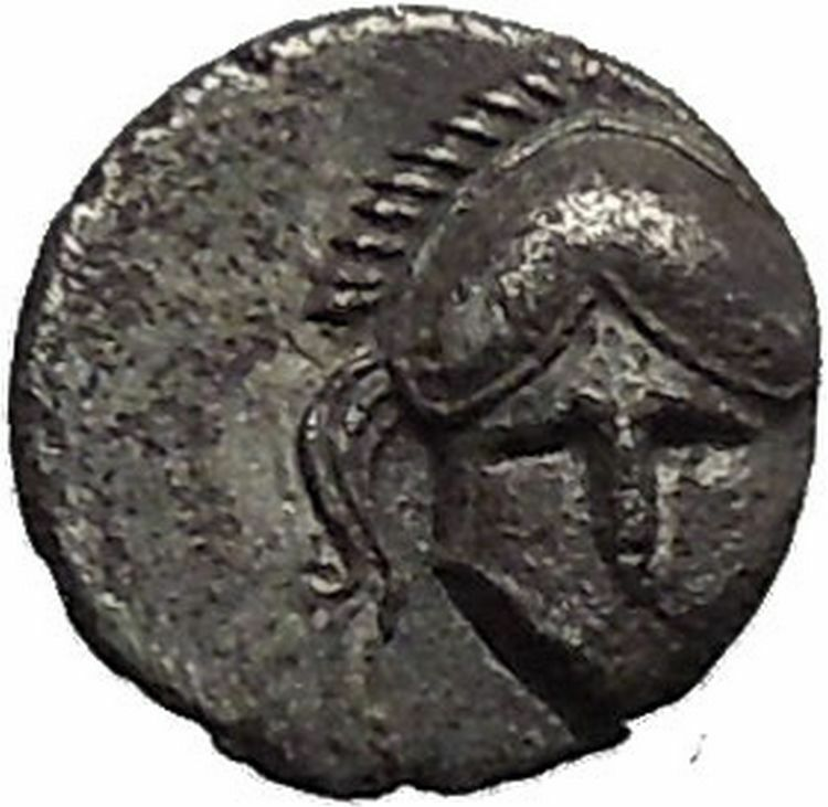 Mesembria Thrace 400bc Crested Corinthian Helmet Silver Ancient Coin I51136