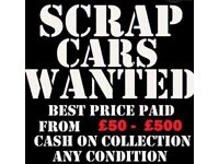 cars-jeeps-vans wanted for scarp