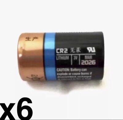 6 SIX DURACELL CR2 3v CR17355 EL1CR2 Photo EX:2026 Lithium Photo Batteries