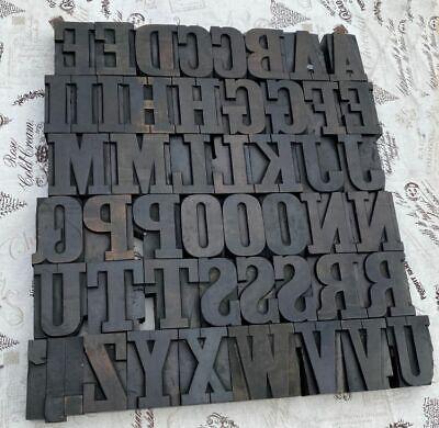A-z Alphabet 2.52 Letterpress Wooden Printing Blocks Wood Type Vintage Printer.