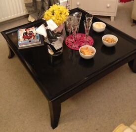 Large black coffee table - from ilva home store. RRP £250