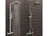 Bathroom mixer shower twin head