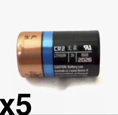 5 FIVE DURACELL CR2 3v CR17355 EL1CR2 Photo EX:2026 Lithium Photo Batteries ()