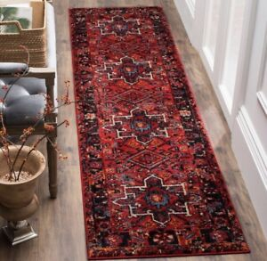 Safavieh Hamadan Traditional Red/Multicoloured Runner Rug