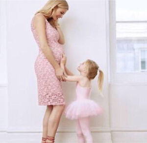 Thyme Maternity Pink Lace Dress!