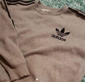 Adidas grey sweat jumper