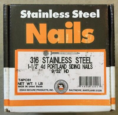 Swan Secure Stainless Steel Nail 1-12 4 D Annular Bx 1lb