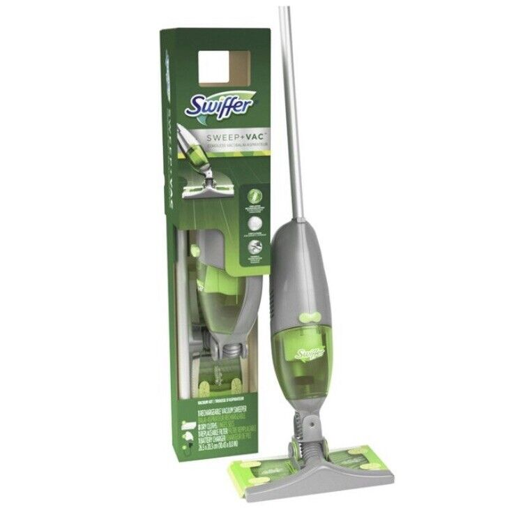 NEW Swiffer Sweep Jet Vac + Pet Cordless Vacuum Sweeper Kit Dry Cleaning Mopping