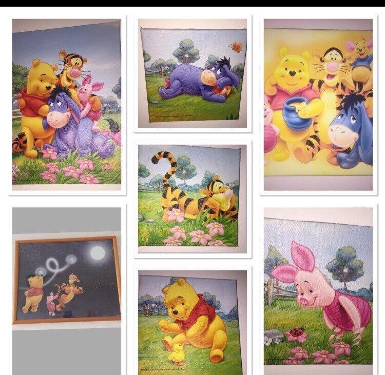 Six Winnie the Pooh canvas