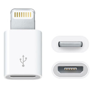 Adapter Lightning auf Micro USB Ladekabel iPhone iPad iPod