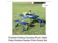 Foldable picnic camping table great condition