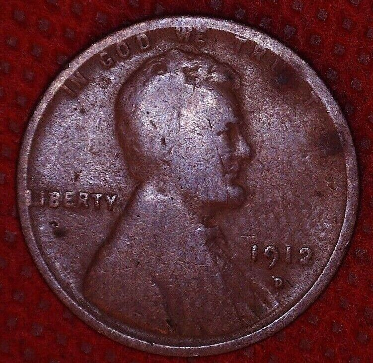 1912 D LINCOLN WHEAT CENT BETTER DATE 1 C DENVER MINT 411 - $6.99