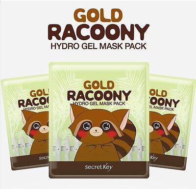 [Secret Key] Gold Racoony Hydro Gel Mask Pack 30g(1.06oz) x 5ea Bright elastic