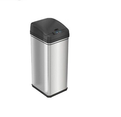 iTouchless 13 Gallon Stainless Steel Automatic Trash with Odor-Absorbing Filter.