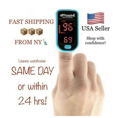 Proactive Fingertip Pulse Oximeter - Monitor Blood Oxygen Level Spo2 Heart Rate