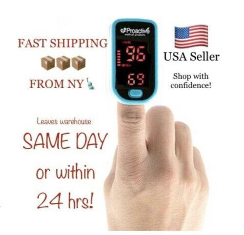 Proactive Fingertip Pulse Oximeter - Monitor Blood Oxygen Level SpO2 Heart Rate