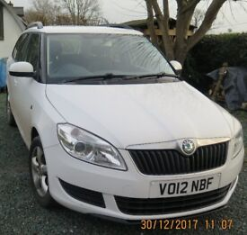 2012 Skoda Fabia Estate SG turbo with long MOT with extra sun roof and heated seats