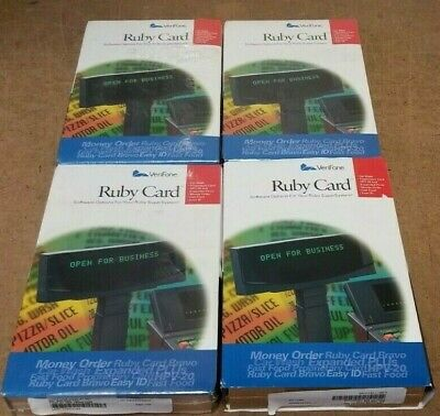 Lot Of 4 New Verifone P040-07-508 Hpv-20 Workstation Ruby Cards