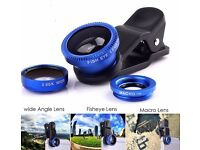 3 in 1 Fisheye Lens Wide Angle Macro Clip On Mobile phone Camera Lens Zoom