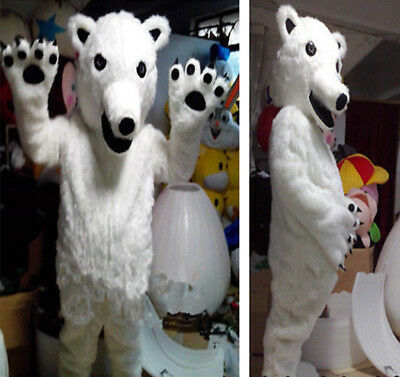 NEWLY Polar Bear Mascot Costume Halloween Advertising Party Fancy Dress Gifts](Polar Bear Costume Halloween)