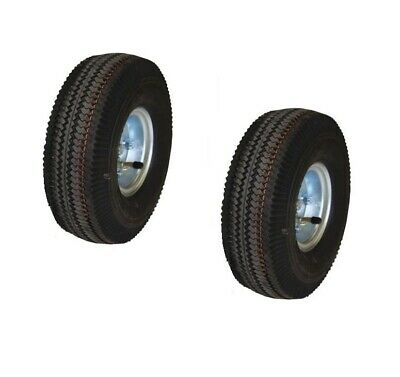 Set Of Two 10 Hand Truck Or Cart Offset Air Tires With Tubes 58 Id 300 Cap