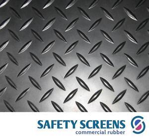 FULL 10m ROLL only £65! Diamond pattern checker plate rubber matting 1200mmx3mm