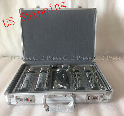 Us 104 Pcs Metal Rim Optical Trial Lens Set Aluminium Case1 Pc Trial Frame